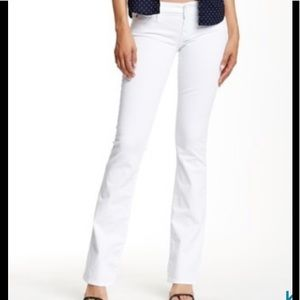 White Beth Baby Bootcut Hudson Jeans